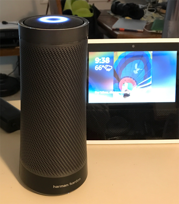 google home and office. My Invoke Speaker Sits On A Kitchen Counter Along With An Alexa Enabled Echo Show And I Have Google Home Device Few Feet Away. Office